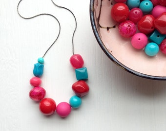 i want candy - necklace - vintage lucite, remixed
