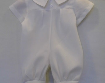 Boys christening, baptism, blessing onepiece knicker romper