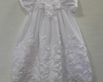 Pauline white christening, baptism, blessing gown