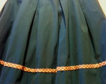 SALE- Vintage Sky Blue Cotton Child's Skirt, Size 4/5 from Barneche/Stephanie Barnes