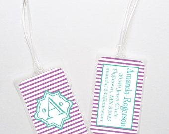 Luggage Bag Tag-  Personalized Monogrammed Tag