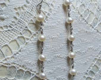 Handmade Freshwater Pearl Earrings with Sterling Silver