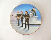 vintage Beatles plate, 1991 Delphi collector's plate, The Beatles in Concert, musical collectibles