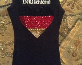 Deutschland Germany Heart Flag