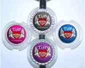 "Personalized Phlebotomist ""All we need is blood"" Wings and Heart Stethoscope Id Name Tag in 6 Colors (A287)"