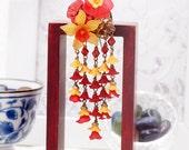 Oriental Hydrangea blossom hair pick (HP)