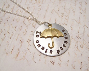 In Omnia Paratus Necklace.S.Ready For Anything: A version In Silver Gilmore Girls. Rory. Logan. Life and Death Brigade