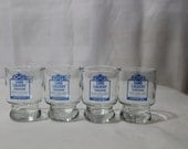 Set of 4 Vintage Lord Calvert Canadian Whiskey Double Shot Glasses