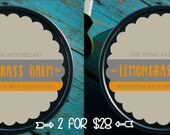 SALE! (2) TSW Lemongrass Balms - (2) 8oz tins for 28