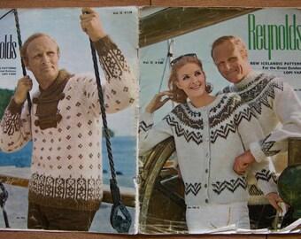 Vintage knitting  patterns Reynolds ICELANDIC - LOPI  Vol. 72 - men/ women