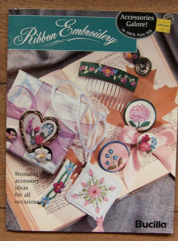 Vintage bucilla pattern book ribbon embroidery designs