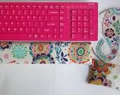 Matching Keyboard WRIST REST for MousePads  - Pick your own pattern cubical office teacher decor gift accessories desk friend dorm