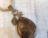 On Sale Bronzite Necklace, Brown, Cord Necklace