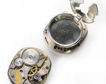 Antique Gruen Watch Movement Steampunk Cuff Button Covers
