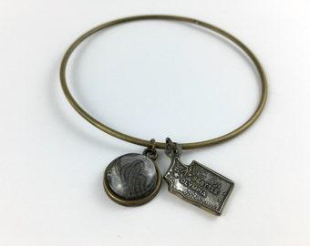Washington Bracelet, Washington Bangle, Washington Gift, Washington Jewelry, Vintage Washington, Washington Map, Spoon Jewelry, Seattle WA