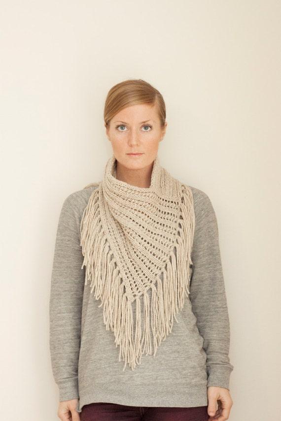 Bandana Cowl Knitting Pattern : KNITTING PATTERN // Arika Cowl // eyelet rib bandana style