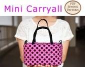 Mini Carryall PDF Easy Sewing Pattern | PDF Sewing Pattern | Top Zipper Pouch Pattern | Zipper Pouch Pattern | Make up pouch pattern