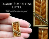Luxury Christmas Dates in a Wooden Box - Artisan fully Handmade Miniature in 12th scale. From After Dark miniatures.
