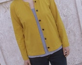Harbor Jersey Knit Button Cardigan Organic Cotton Women XS S M L XL