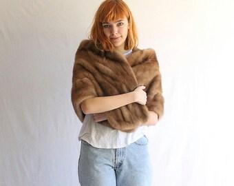vintage 50s mink fur stole small - medium