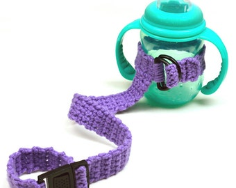 Sippy Cup Tether - PDF Crochet Pattern - Instant Download