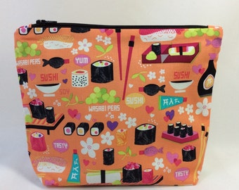 POUCH- Sushi Rolls and More  **handmade**