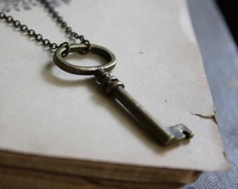 The Secret Garden Key - Steampunk Key Necklace - Small Key Necklace