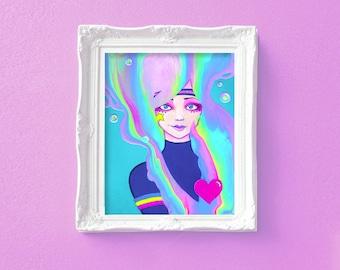 Turbo Girl 8x10 Fine Art Print by Leilani Joy