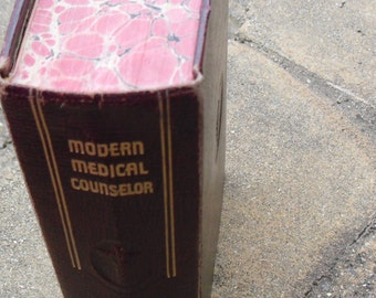 Vintage Book Modern Medical Counselor Vintage medical Book