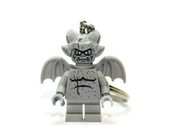 Gargoyle Keychain - made from Series 14 LEGO (r) Minifigure
