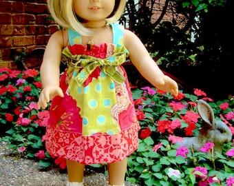 "PDF Pattern Easy to Sew Beginner Alia 18"" Doll Sun Dress Pinafore Jumper"