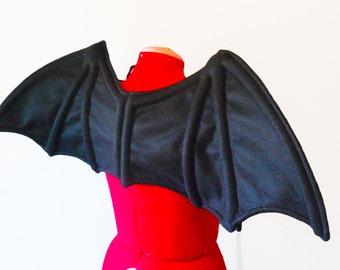 Bat Wings. Black Dragon. Cosplay. Vampire Halloween.