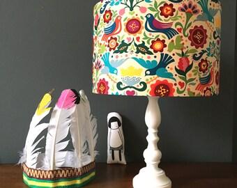 Swallows Handmade Lampshade in Rainbow Brights