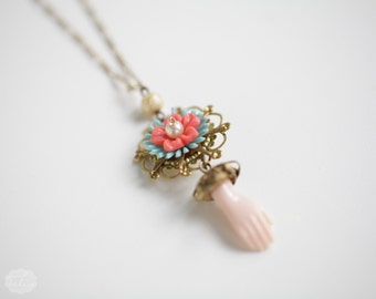 Holy Vintage no2 - Doll Parts Blythe Necklace - for doll lover - strange things by Karolin Felix