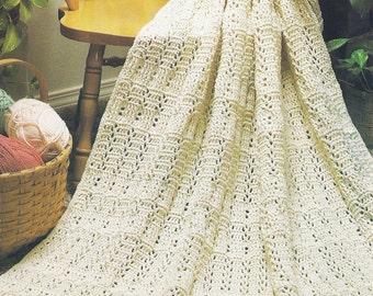 Vintage Crochet Pattern, Textured Afghan