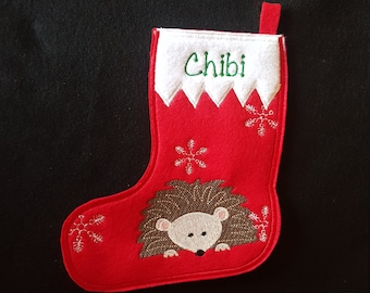 Hedgehog Christmas Stocking-Personalized