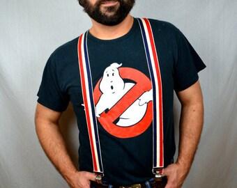 Vintage 1980s 90s GhostbustersmBlack Tshirt Tee Shirt