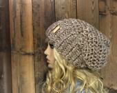 Crochet Ribbed Brim Slouchy Slouch Crochet Beanie Hipster Hat - ||DEEP WOODS|| - BASIN