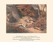 Hare Shooting, 1927, Historical Vintage Sporting Print, Hunting, Frameable Art