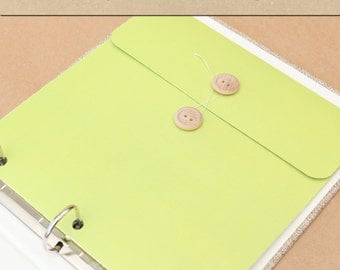 Keepsake Envelope - Lime Green -  Include in your Two Giggles Baby Album