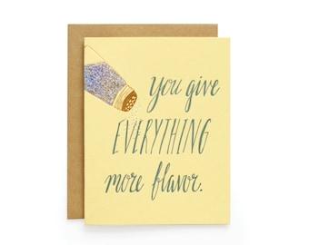 More Flavor - letterpress card