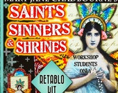 Workshop RETABLO Kit - Reserved for Students Only - Saints, Sinners & Shrines - Alternatives to Honoring the Divine Within