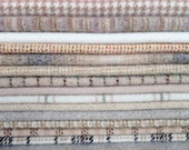 Felted Wool, 8in.x 8in. - Light Colored Wool, Neutrals - for Applique, Penny Rugs and Sewing Projects / W524