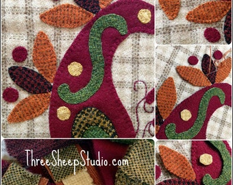 Paisley Wool Applique Kit - #WAK100