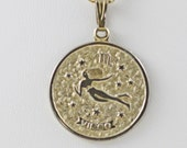 Vintage Sarah Coventry Virgo Zodiac Sign Pendant Necklace (B-1-4)