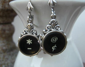 Typewriter Key Jewelry - Earrings -  No E112
