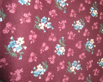 Deep Plum and Teal VIP Quilting Fabric, 1 yard, L