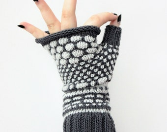 Merino wool fingerless, women grey fingerless, exciting arm warmers, teen girl gift, winter gloves