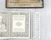 Personalised Shakespeare pencil set. Customised with your own words or a quote from one of Shakespeare's plays.