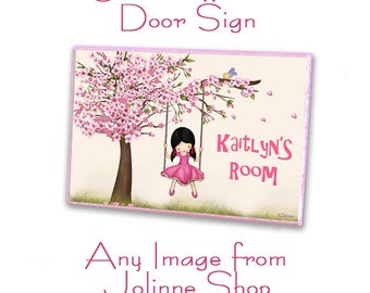 Personalized Door Sign on Wood Plaque - Choose any image from my shop